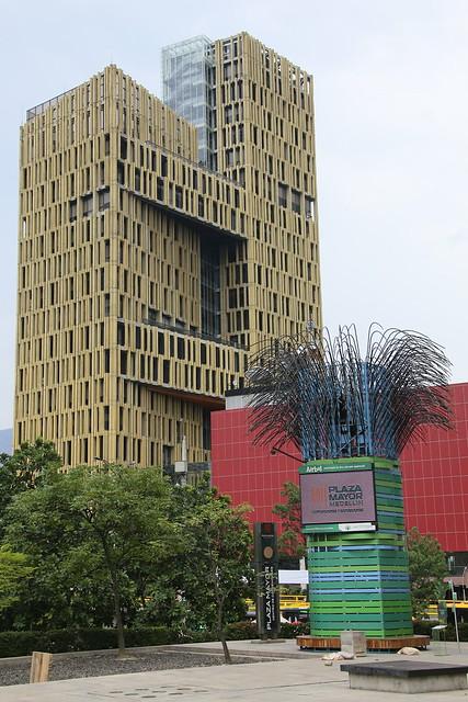 Centro Civico de Antioquia and Plaza La Libertad.  Medellin, Colombia.