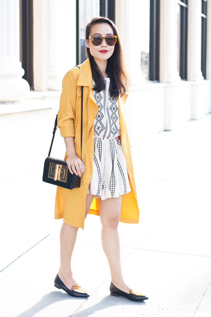 05-mustard-trench-romper-loafers-fashion-style-sf-sanfrancisco