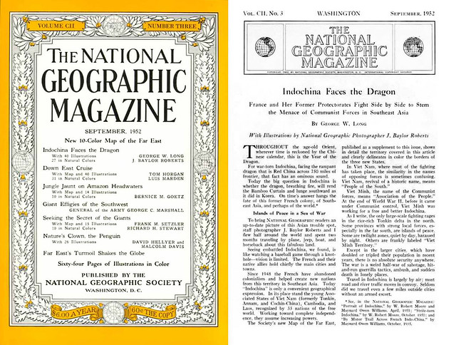NATIONAL GEOGRAPHIC Magazine September 1952 (1) - Indochina Faces the Dragon