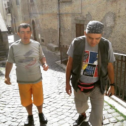 Si fatica a salire #carsoli lungo l'antica via #marsica