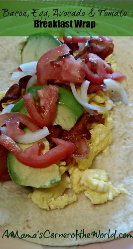 Bacon Avocado Egg Breakfast Wrap 2