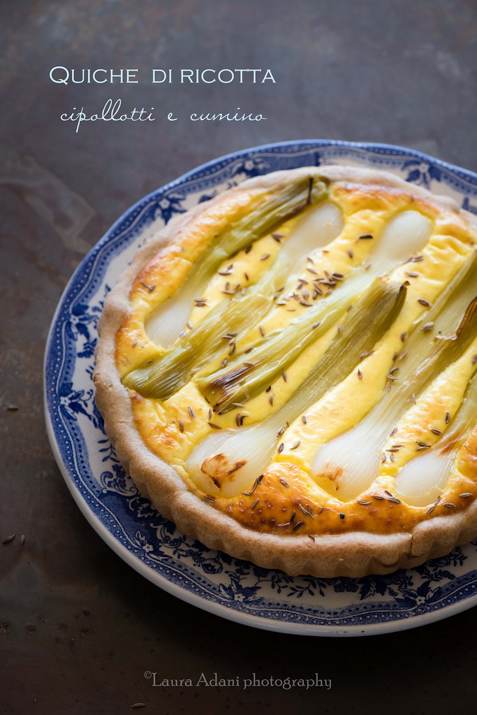 quiche with ricotta and green onions