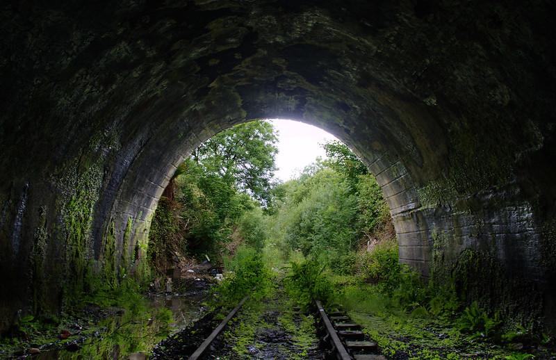 Looking out of Trafalgar Street Tunnel