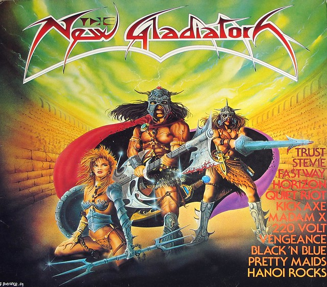 "NEW GLADIATORS VA HEAVY METAL COMPILATION 12"" LP VINYL"