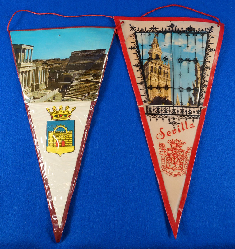 RD15162 Assortment of 10 Travel Pennant Flags From Andalusia, Spain & Vicinity DSC08720