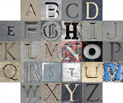 Stone letters