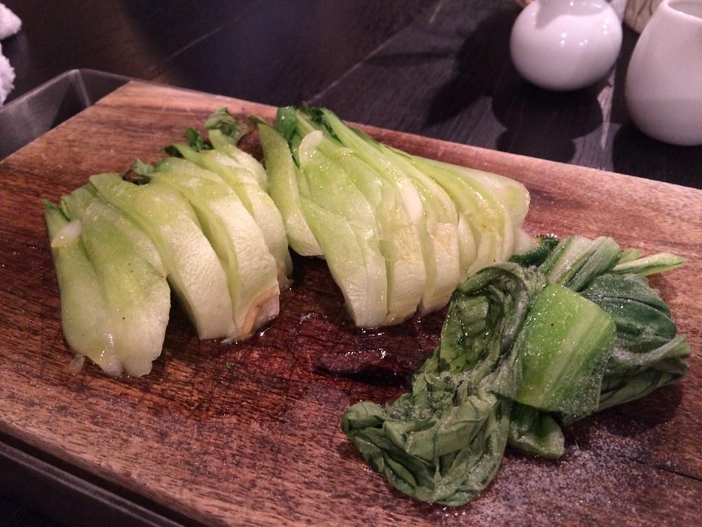 青菜、うまいね、うまい、うん
