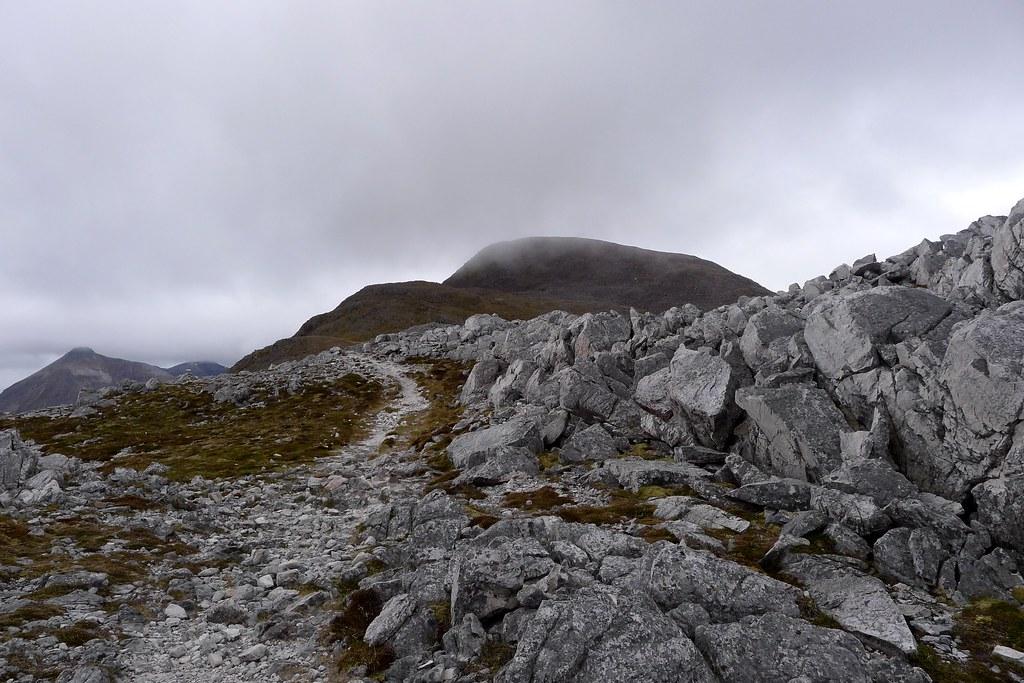 Mist over the summit of Maol Chean-dearg
