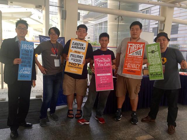 MozTW Mozillians #FoxYeah @ HKOSCon2015
