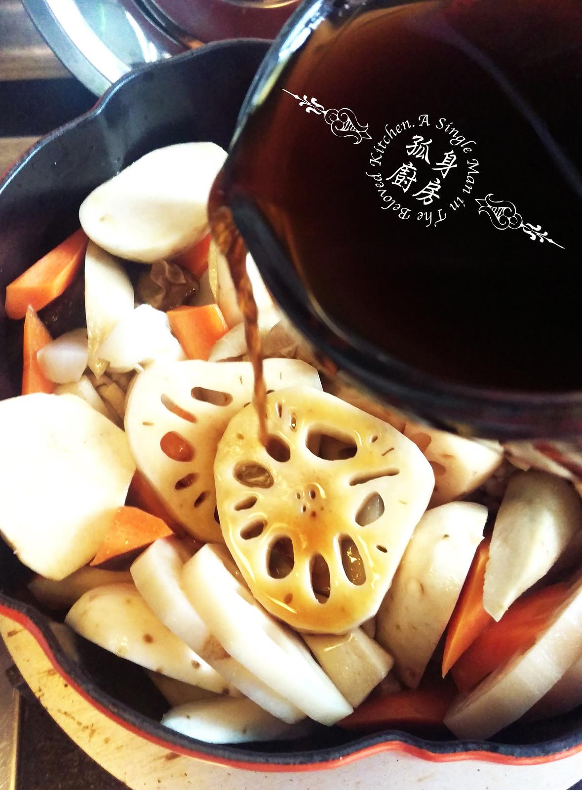 孤身廚房-食譜書《常備菜》試作——筑前煮、醬煮金針菇。甜滋滋溫暖和風味8