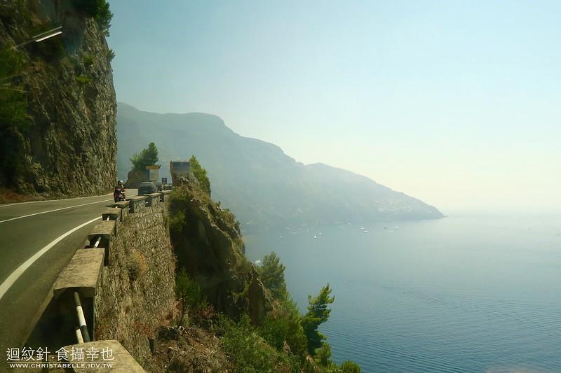 Bus ride to Positano