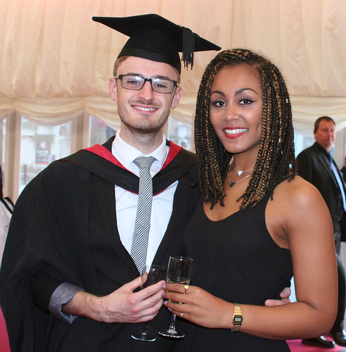 Nicholas Young with his girlfriend, Naomi  Bryan who graduated in 2014