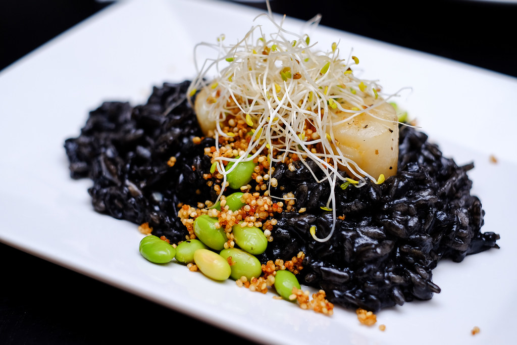 Monochrome Fusion Bistro's Squid Ink Risotto