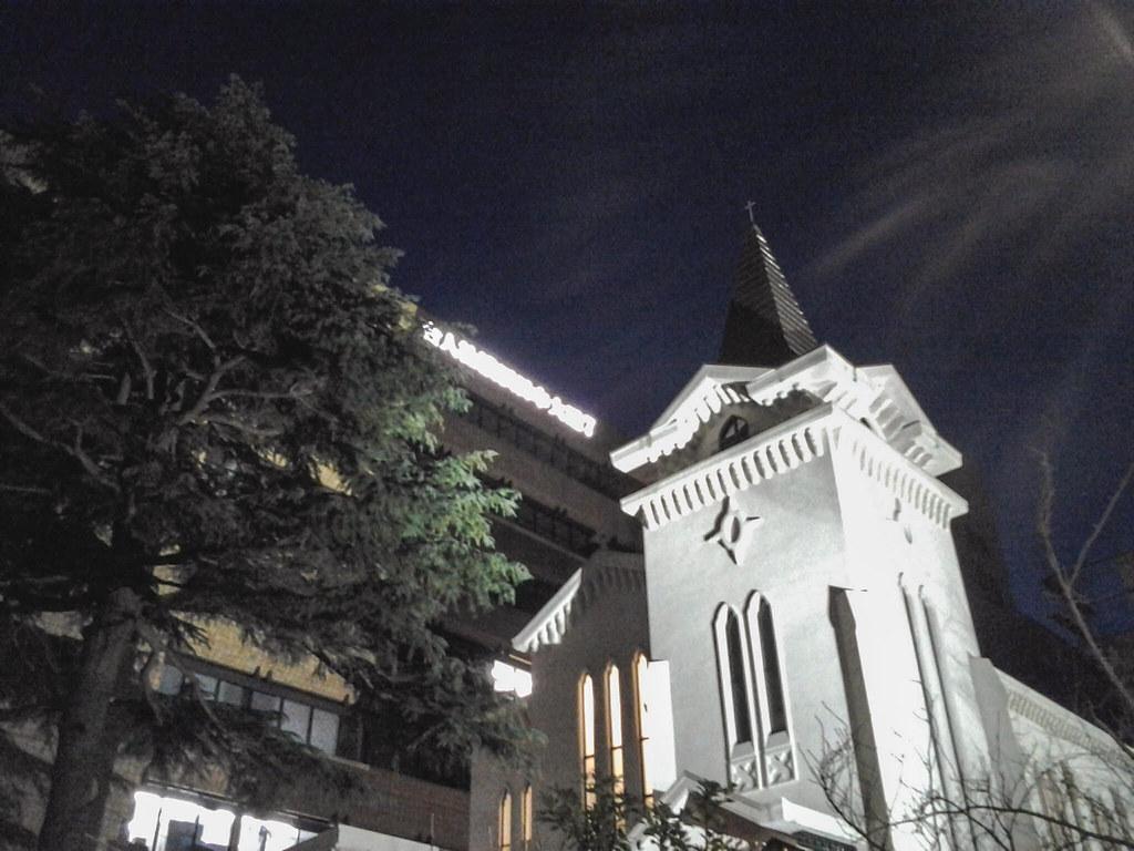 クリスマスイヴの横浜海岸教会