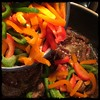 #ginger #lime #beef #homemade #CucinaDelloZio - toss in the peppers