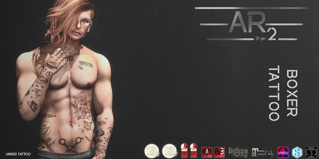 [AR2 Style] Boxer Tattoo - SecondLifeHub.com