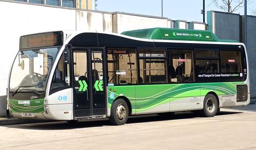 YJ61 JHU 'Diamond Bus North West' No. 30143 Optare Versa Hybrid on Dennis Basford's 'railsroadsrunways.blogspot.co.uk'