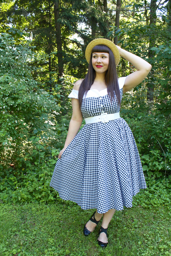 hell bunny gingham dress