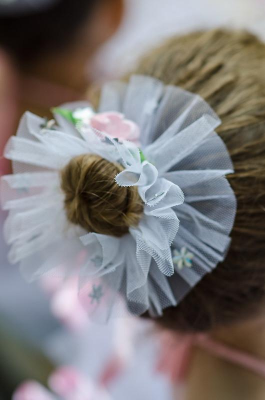 13 June - Momma did Leyla's hair for her ballet recital.