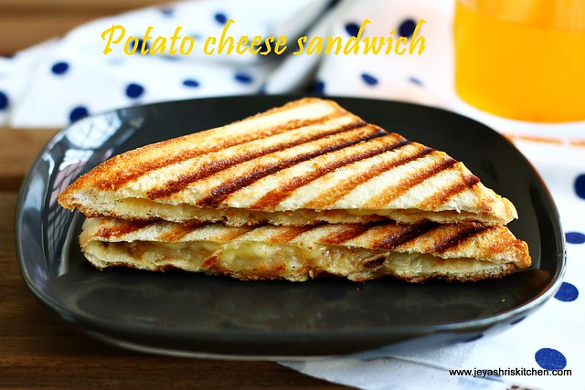 potato- cheese sandwich