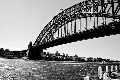 Harbor Bridge BW