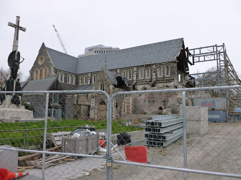 Waht's left of christchurch cathedral