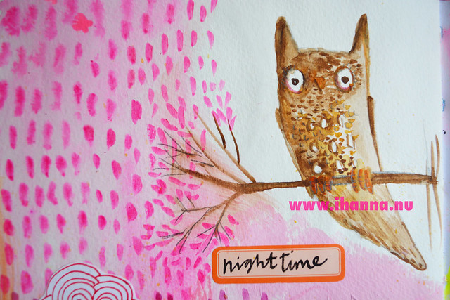 Art Journal Detail: Night time Owl is Up by iHanna