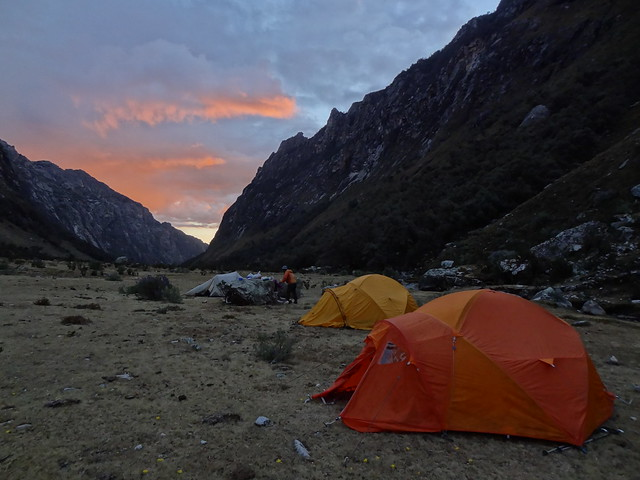 Highlights of the Cordillera Blanca Traverse: Quebrada Aquillpo camp