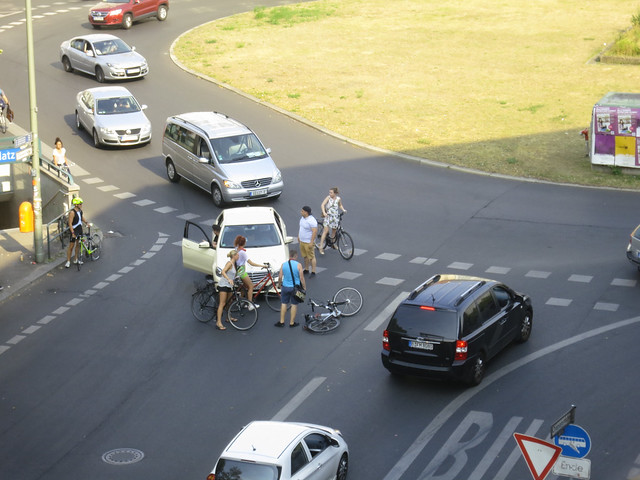 Cyclist get hits on Moritzplatz