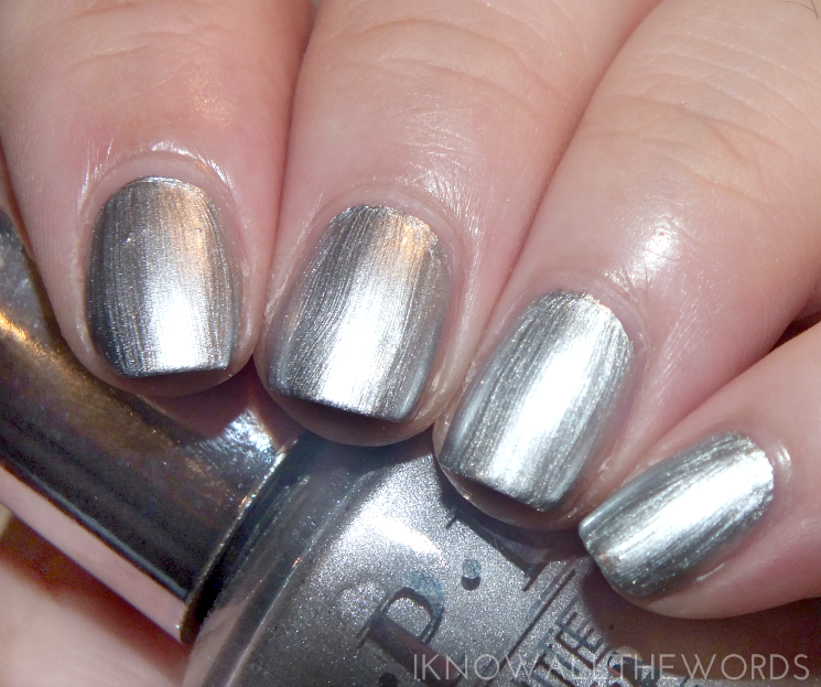 OPI infinite shine summer 2015 silver on ice