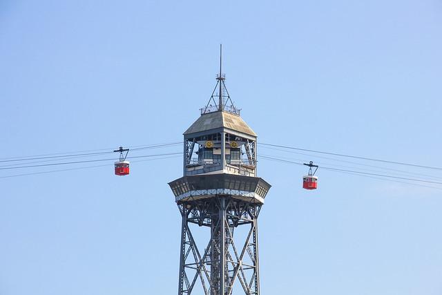 Barcelona - Port Vell Aerial Tramway Torre Jaume I