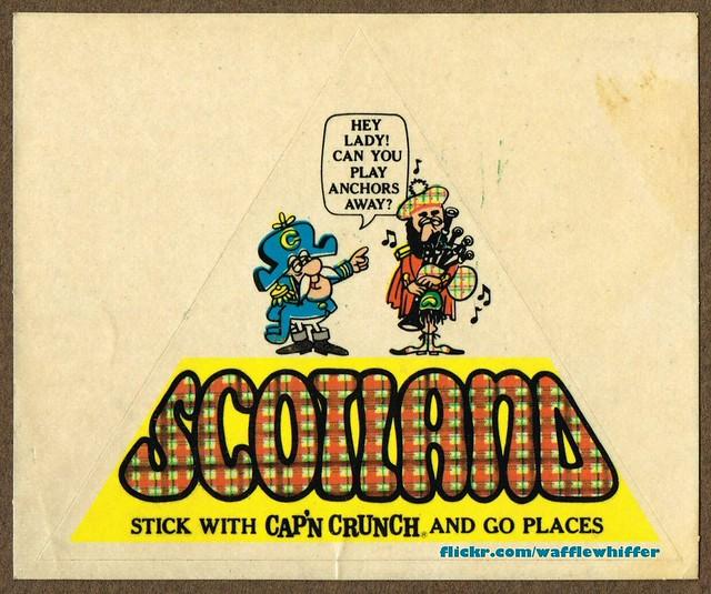 Cap'n Crunch Scotland Sticker - 1960s
