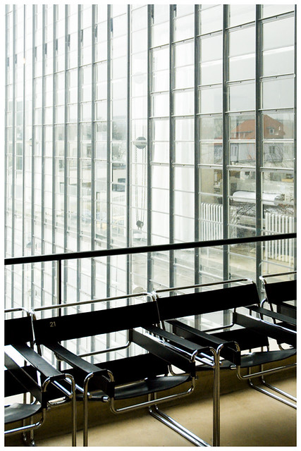 Bauhaus Dessau - Stahlrohrsessel (Wassily Chair) In The Stairway