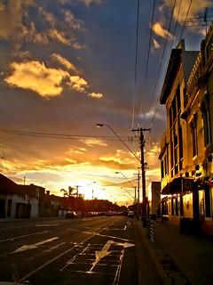 Sunset on Brunswick Rd