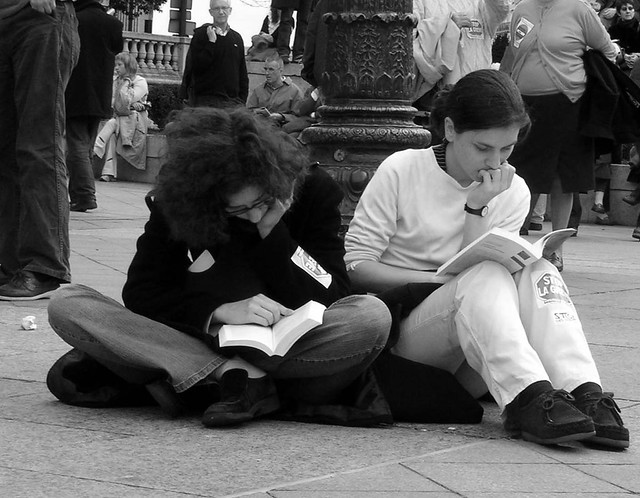 Reading at the demo 2 from Flickr via Wylio