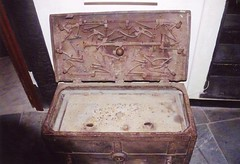 carving, art, wood, chest, trunk, iron, box, antique,
