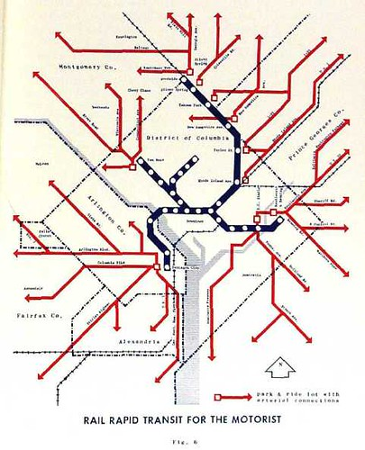 One of the plans for the Washington Subway, 1965