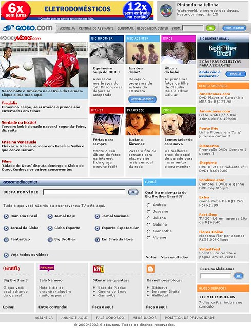 Globo.com 2003.2