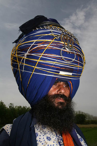 Nihang Singh with Big Turban