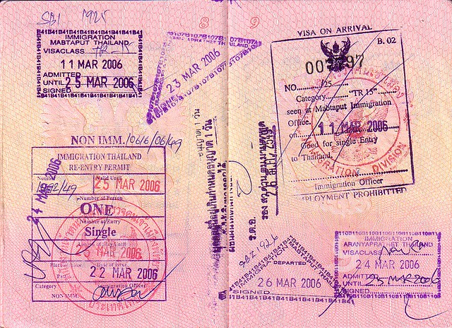Visa to Thailand 2006 + Re-Entry Permit