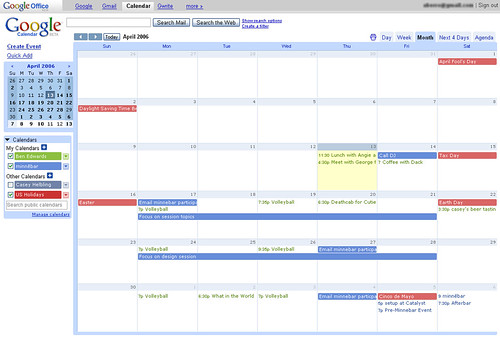 how to go to google calendar from gmail