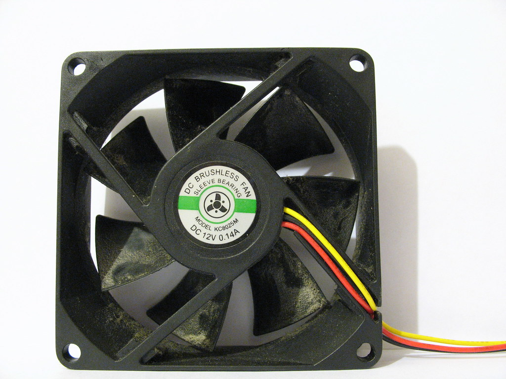 typical computer fan you would find if you opened your computer case