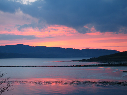 Sunset over the Swilly April