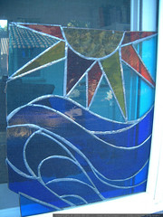 sun and ocean stained glass by kathleen fischer finl…