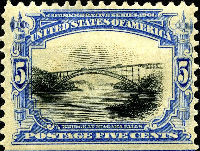 Niagra Falls Bridge Postage Stamp