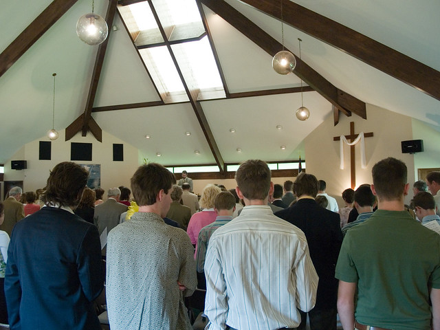 Michael leading the congregation in worship from Flickr via Wylio