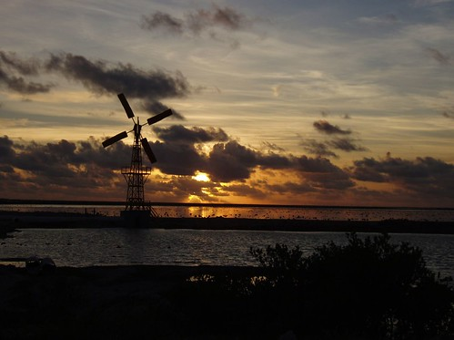 ocean sunset vacation netherlands dutch sunrise island olympus huey caribbean bonaire antilles topical c5000 c5000z