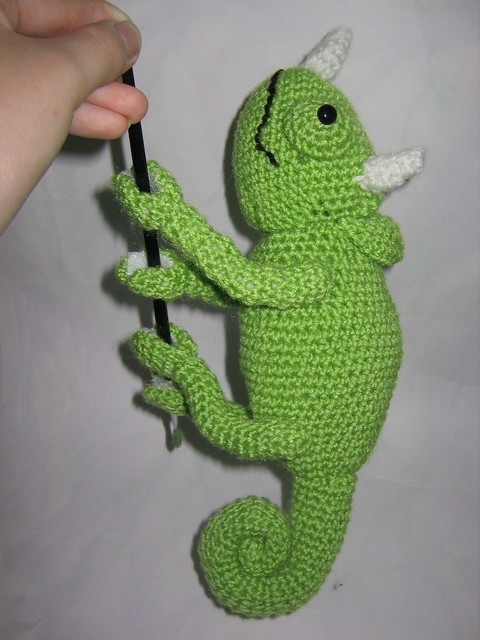 Amigurumi Chameleon : Jacksons chameleon amigurumi 2 Flickr - Photo Sharing!
