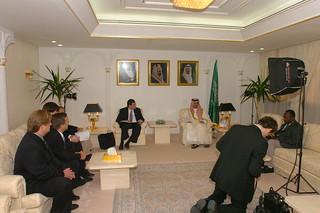 Visiting with Prince Nawaf