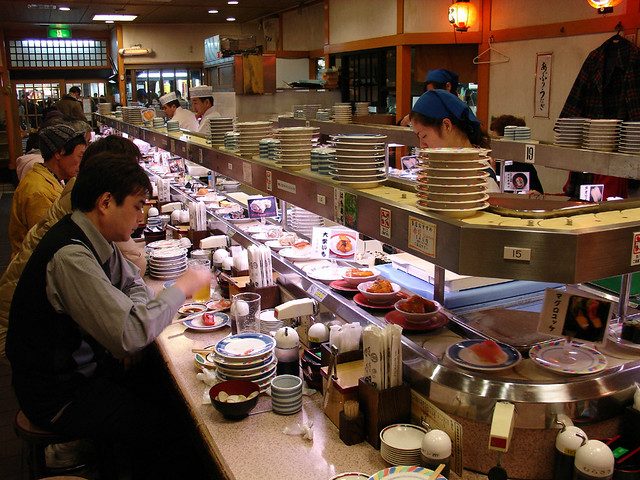 Kaiten Sushi under Kyoto Station